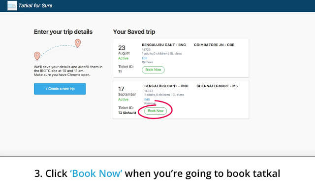 IRCTC Tatkal Ticket Booking