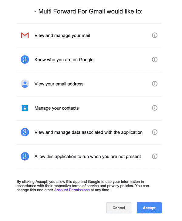 how to forward multiple emails in gmail