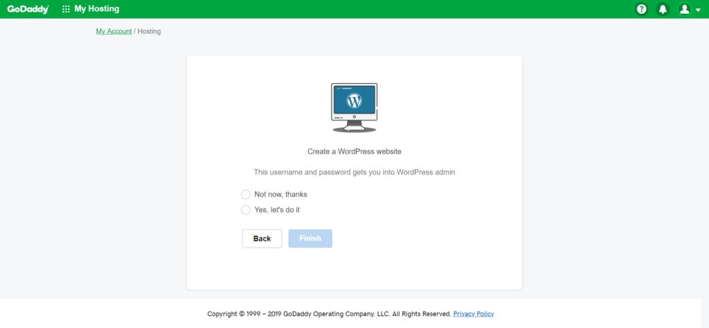 WordPress Installation wordpress installation Godaddy Hosting Account pe WordPress kaise Install kare screencapture myh godaddy 2019 01 27 15 00 20 1024x474