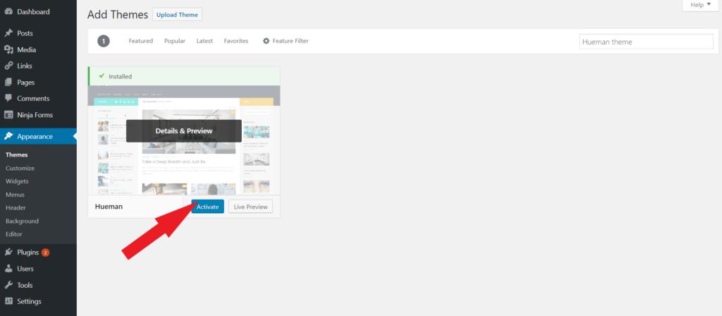 Install WordPress theme install wordpress theme WordPress Theme Install kaise kare tempsnip 31 1024x448