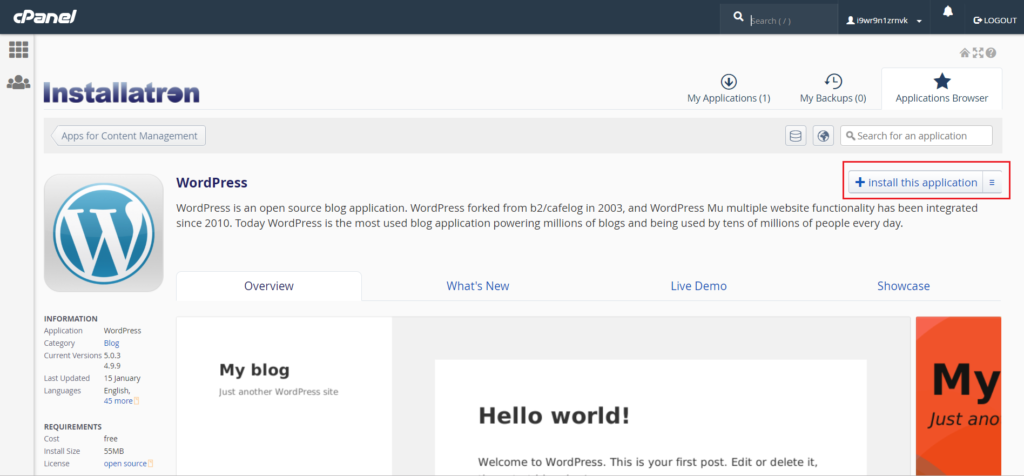 WordPress Installation wordpress installation Godaddy Hosting Account pe WordPress kaise Install kare tempsnip 4 1024x476