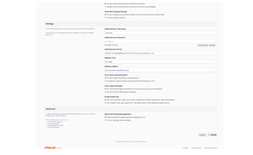 WordPress Installation wordpress installation Godaddy Hosting Account pe WordPress kaise Install kare tempsnip 6 1024x629