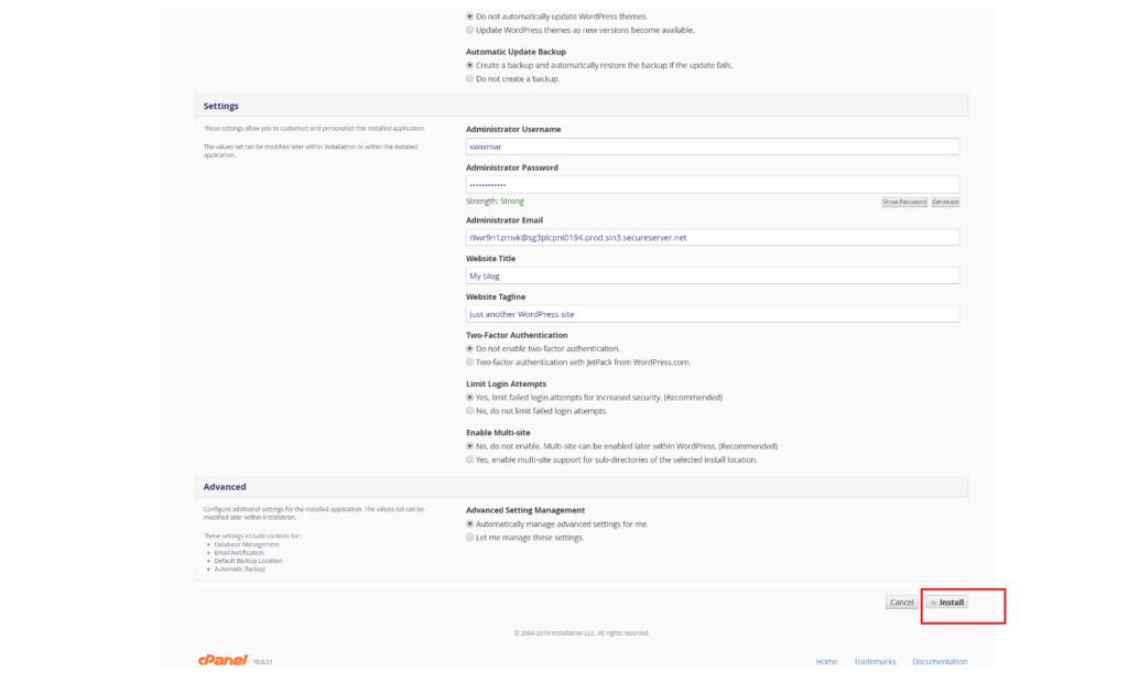 WordPress Installation wordpress installation Godaddy Hosting Account pe WordPress kaise Install kare tempsnip 7 1024x629
