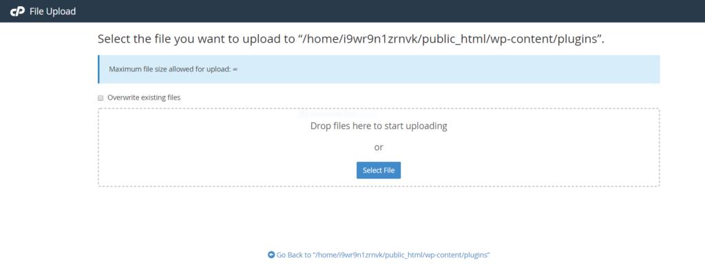how to upload theme and plugin via cpanel File Manager ki help se Plugin aur Theme kaise upload kare Capture 19 1024x399