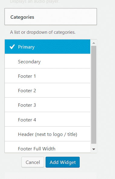 How to add widgets in WordPress