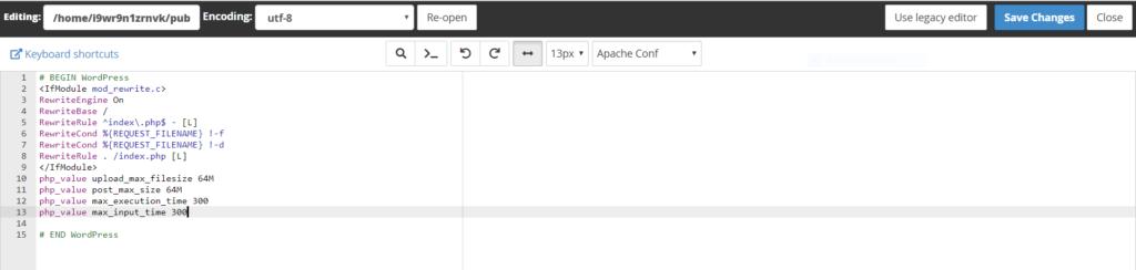 maximum file upload size Wordpress me Maximum File Upload Size kaise increase kare Capture 79 1024x244