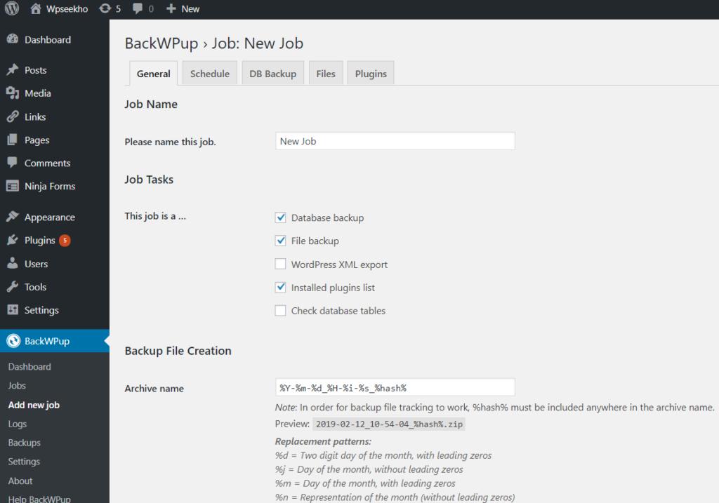 create complete wordpress backup Wordpress Blog ko backup kaise kare Capture 88 1024x717