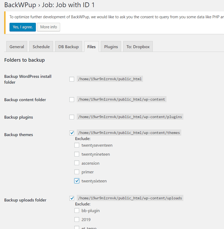 create complete wordpress backup Wordpress Blog ko backup kaise kare Capture 91