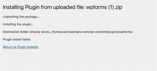 Wordpress Me Destination Folder Already Exists Error Ko Kaise Fix Kare ?