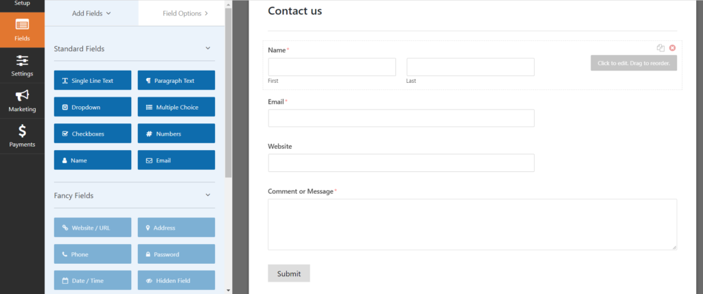 Create contact form create contact form WordPress me Contact form kaise create kare tempsnip 14 1024x429