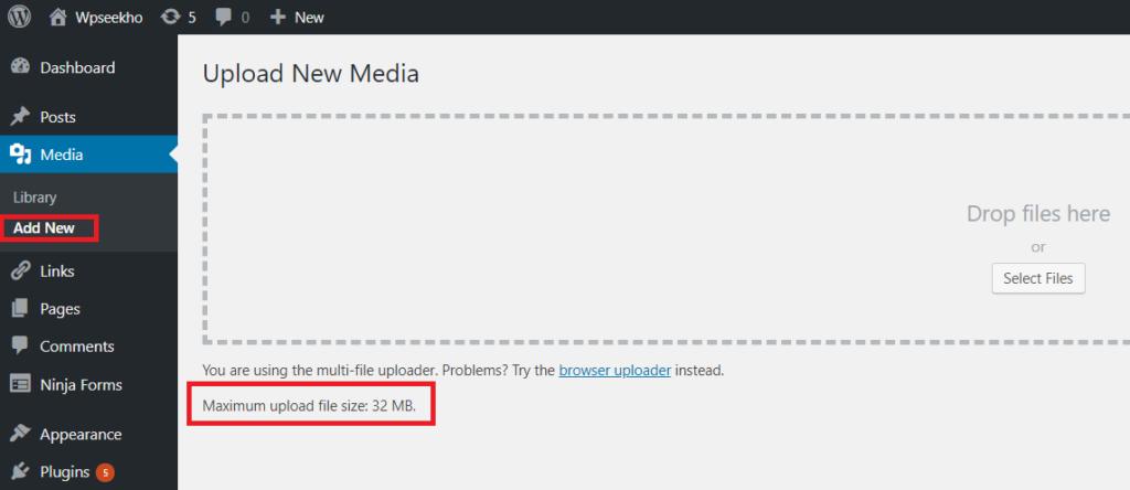 maximum file upload size Wordpress me Maximum File Upload Size kaise increase kare tempsnip 56 1024x444