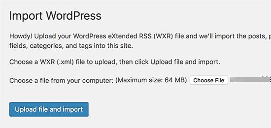 move from wordpress.com to wordpress.org Apne blog ko WordPress.com se WordPress.org pe move kaise kare uploadimportfile 1