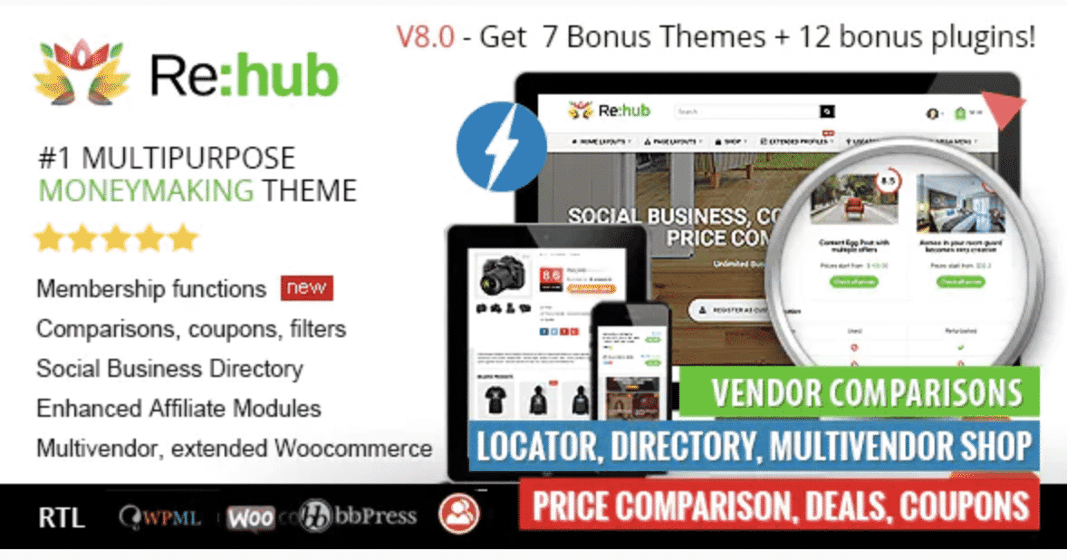 Buy ReHub Theme For Website