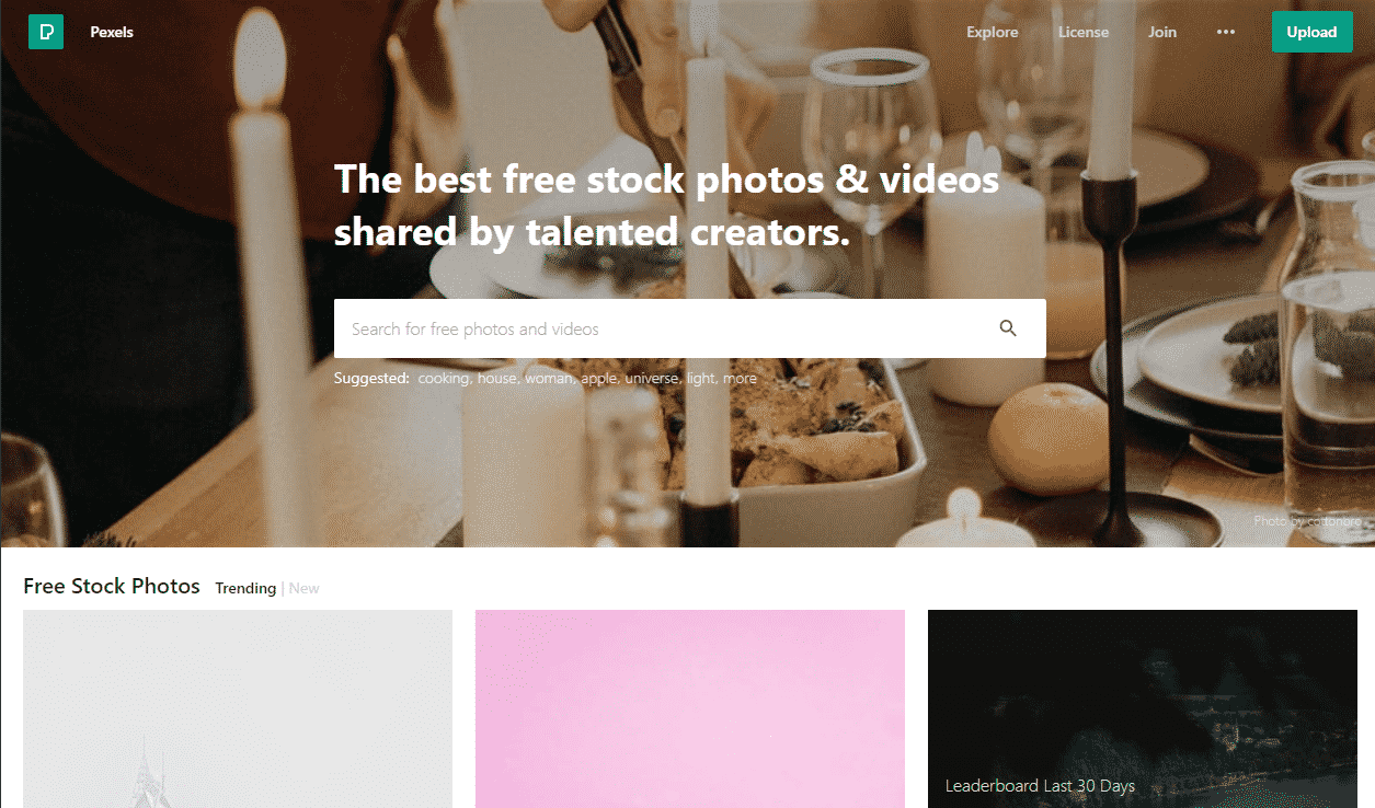 Websites for free Stock Images
