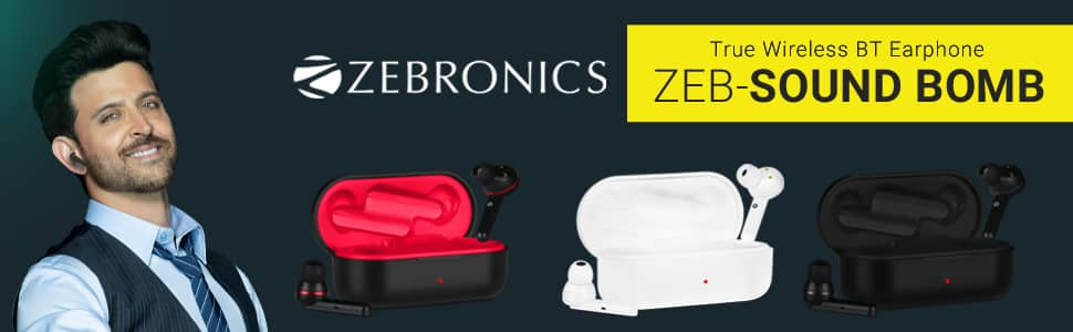 Zebronics Zeb-Sound Bomb True Wireless BT Earphone