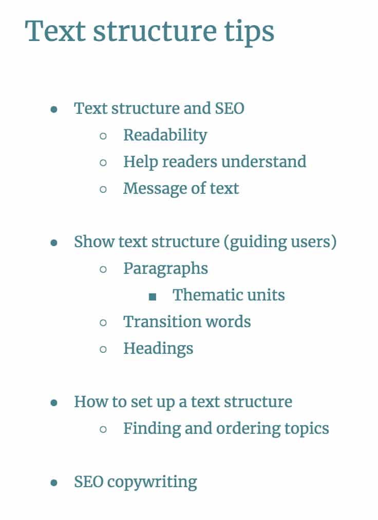 Blog Post Structure Setup