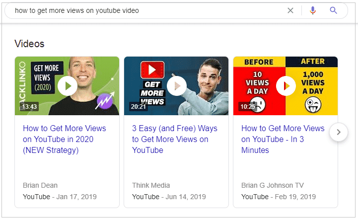 Video Results