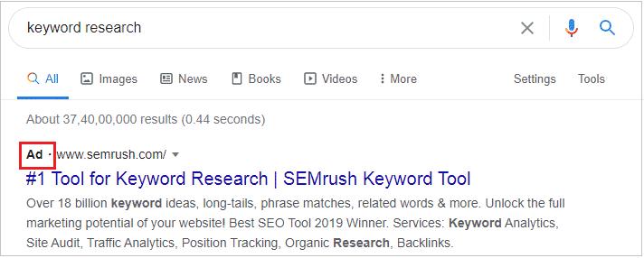 SERP kya hai: paid search result: SERP kya hai