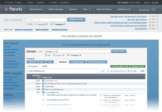 backlinks analyse tool