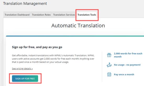 automatic translations