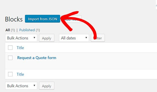 import from json