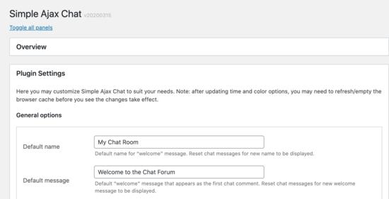chat name