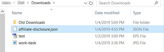 upload Json file
