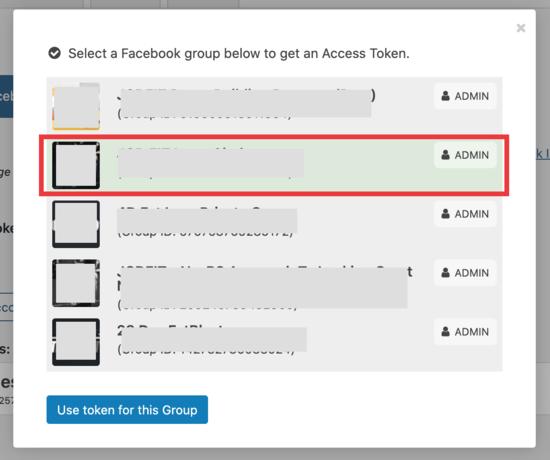 token fb group