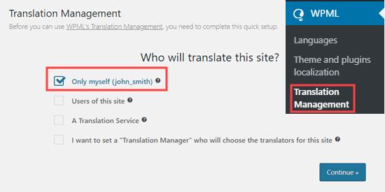 who can translate option
