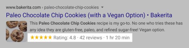 google serp rich snippet recipe