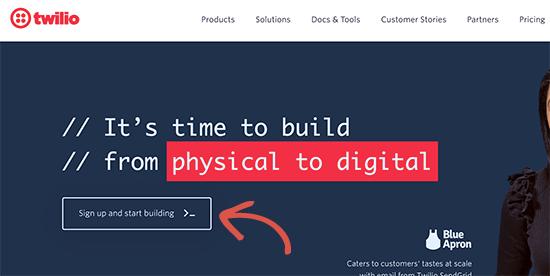 twilio website