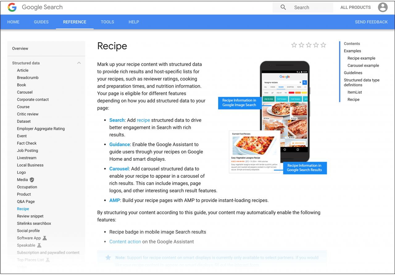 google structured data documentation